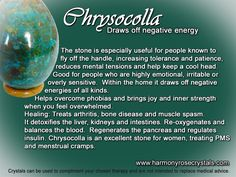 Chrysocolla`Healing Stones