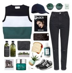 """"""":D read d !!!!!!"""" by ruthaudreyk ❤ liked on Polyvore featuring A.L.C., Topshop, Accessorize, New Balance, AMBRE, R+Co, Enchanté, YHF, Starskin and RéVive"""