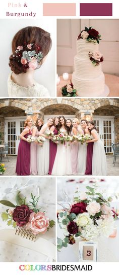 Fall wedding colors with pink and burgundy