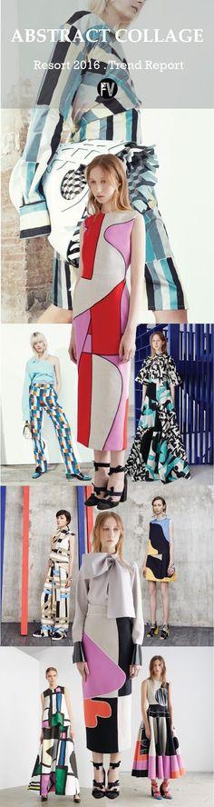 Resort 2016 runway/inspirations/color - Abstract CollageCourtesy . Style.comEmilio Pucci, Roksanda, Emilio Pucci, Roksanda, MSGM, Camilla and Mark, Roksanda