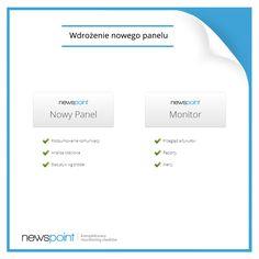 Dziś wdrożyliśmy nowy system kont w panelu! Po zalogowaniu zostaniecie poproszeni o zmianę hasła i podanie e-maila kontaktowego. Po migracji konta, wszelkie ustawienia, w tym profile zapytań, widoczne w Monitorze oraz w Nowym Panelu, staną się niezależne od siebie! Kliknijcie i sprawdźcie kolejne, ale nie ostatnie zmiany - ciąg dalszy już niebawem! www.newspoint.pl/login