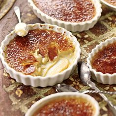 Maple Crème Brûlée    4 cups whipping cream    2 cups maple syrup  14 egg yolks  Maple sugar (about 2 Tbsp.)