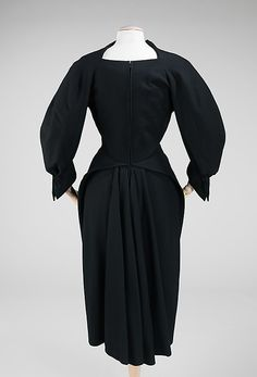 Wool dress (back) by Charles James, American, 1951.