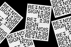 RE SIGN PAPER on Behance