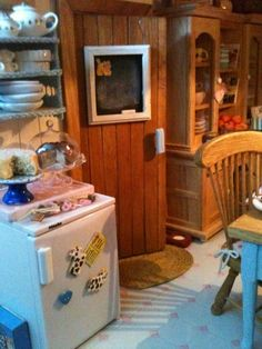 A photo of my dollhouse kitchen