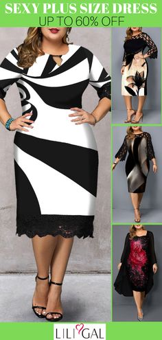 #coupons $8 off over $80, $20 off over $150, code: liligal2019 .Free Shipping & Easy Return. Liligal sexy plus size casual dresses for curvy women. #liligal #plussize #womensfashion #plussizedresses