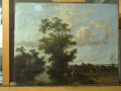 Schilderij rivierlandschap met vernistest - RestauratieatelierHaarlem.nl