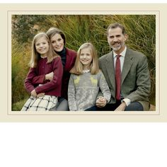 "Spanish Royals  King Felipe VI and Queen Letizia celebrated the holidays with a sweet family Christmas card featuring their two daughters, Princess Leonor and Infanta Sofia. ""Merry Christmas and Happy New Year 2017,"" the greeting read in Spanish and English along with the four royals' handwritten signatures signed below."