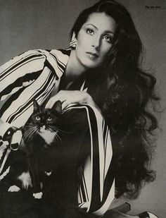 Cher...with a cat