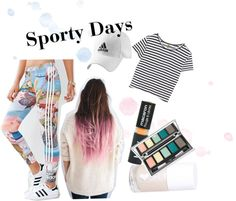 Sporty Days - For When Only Leggings Will Do by marinasays on Polyvore featuring Enza Costa, adidas, Topshop and Luana
