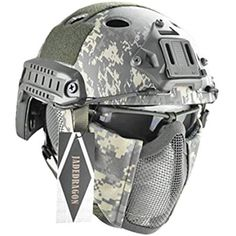 Amazon.com: onetigris Binokular mich 2000 Style Ach Tactical Helmet mit NVG Halterung und Seite Schiene: Sports & Outdoors Tactical Helmet, Airsoft Helmet, Taktischer Helm, Helmet Covers, Assault Pack, Black Helmet, Paintball, Sport, Abs