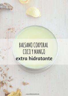 Receta Cosmética Natural Bálsamo Corporal hidratante. Te explico el paso a paso para esta receta de Cosmética Natural casera.