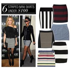 6 Striped Mini Skirts Under $100