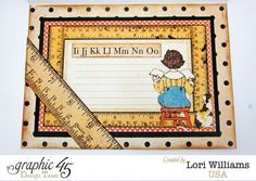 The inside of the An ABC Primer Card by Lori Williams. Adorable! #graphic45 #cards