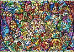Japan Jigsaw Puzzle D-2000-603 Disney All Star Stained Glass (2000 Pieces)