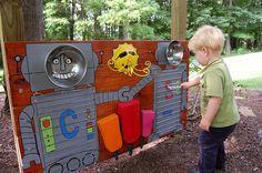Backyard Playground Music Wall Ideas For 2019 Playground Flooring, Backyard Playground, Outdoor Learning, Outdoor Play, Music Garden, Sensory Garden, Backyard Movie, Robots For Kids, Garden Nursery