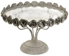 Rose Pedestal Cake Plate