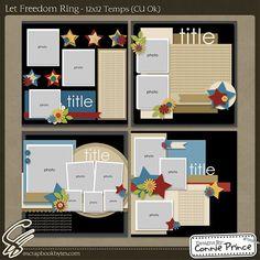 Let Freedom Ring - 12x12 Temps (CU Ok) :: CU/Designer Tools :: SCRAPBOOK-BYTES