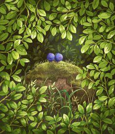Blueberry wood illustration emiis illustration