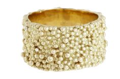 caviar ring made from yellow #gold granules
