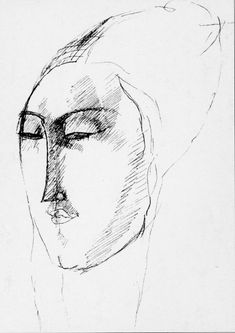 Modigliani - Drawing of Marianne Alcoforado,Beja (a Portuguese nun) 1930