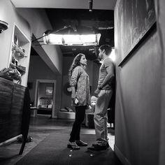 Farhan Akhtar and Vidya Balan having a chat during the shoot of an intense scene from #ShaadiKeSideEffects