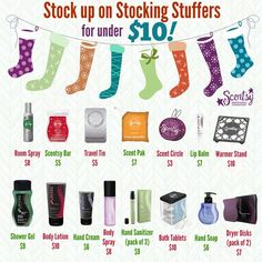 Give the gift of Scentsy! Stocking Stuffers for under $10! Order Here: https://kimsperfectscents.scentsy.us