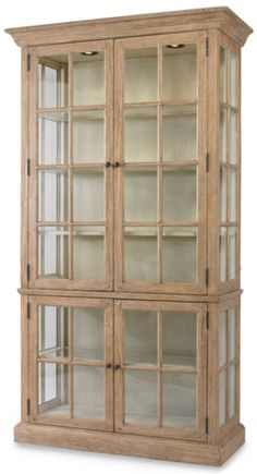 Waltham Display Cabinet - Solid Poplar Cabinet With Lights, Furniture, Home Decor | Soft Surroundings