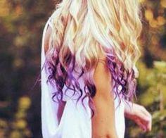 Purple dip dye hair :)