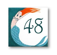 Address Sign Beach house sign Mermaid House by AyeBarDesigns