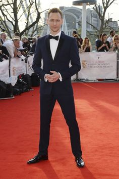 Tom Hiddleston wore chic navy tux to the British Academy Television Awards 2016  via @AOL_Lifestyle Read more: http://www.aol.com/article/2016/05/09/who-wore-what-this-weekend-bafta-television-awards/21373901/?a_dgi=aolshare_pinterest#slide=3886396|fullscreen