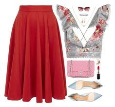 """""""You know the Frill"""" by cocochaneljr ❤ liked on Polyvore featuring Closet, Zimmermann, Gianvito Rossi, Chanel, MAC Cosmetics, Napoleon Perdis, Miadora and River Island"""