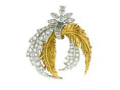 Mid-Century McTeigue Diamond Brooch in 18K #504220