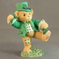 Cherished Teddies Figurine Pat 116437 Irish Dancing Jig Friendship More Than Luc