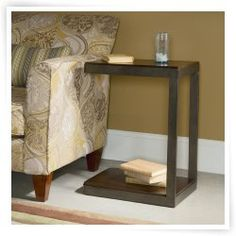 The Hammary Hidden Treasures Castered Metal C-Table - Cherry ensures that your living room or bedroom maintains an airy feel. Sofa Tables, End Tables, C Table, Hidden Treasures, Accent Furniture, All Modern, Home Furnishings, Entryway Tables, New Homes