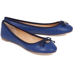 Tory Burch Embellished leather ballet flats found on Polyvore