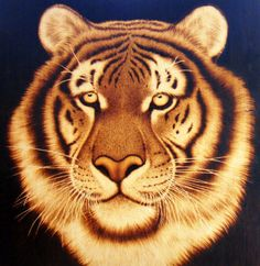 Wood Burning Tiger
