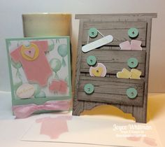 Stamp' Up! Something for Baby, Teeny Tiny Wishes, Hardwood, Card, Gift Card Holder Baby Shower.