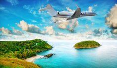 Тропики Французская Полинезия Остров Небо Самолеты Пассажирские Самолеты Облака Природа