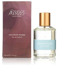 Strange Invisible: Aquarian Roses - Crisp wild roses brighten a warm sea of marjoram and sandalwood in Strange Invisible Perfumes Eau de Parfum Aquarian Roses. A floral perfume for both sexes, this Aquarian elixir boasts the relevance of rose in contemporary perfumery and on the skin of men.