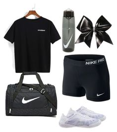 """""""HS cheer tryouts outfit #1"""" by gennaguirre on Polyvore featuring NIKE"""