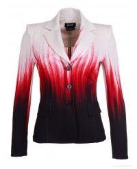 Isabel de Pedro Ladies' Dip Dye Short Jacket – Red/Black/Cream