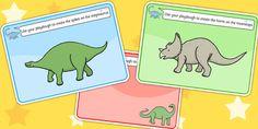 Dinosaurs Playdough Mats - Dinosaur, playdough, mat, history