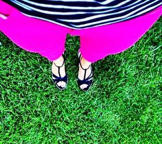 in love with my new pink skinny capris :)