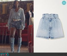 Other Outfits, Oversized Shirt, Insecure, Fashion Outfits, Womens Fashion, Denim Skirt, Shorts, Luxury, Blue