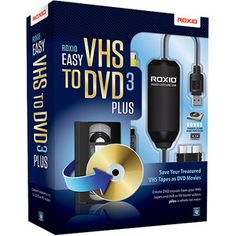 Roxio Easy VHS to DVD 3 Plus (PC).  Converts VHS --> DVD