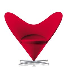 The Heart Cone Chair from vitra, one of Verner Panton most spectacular seating objects, is perfect for loungy living rooms, trendy bars and children's rooms de luxe.