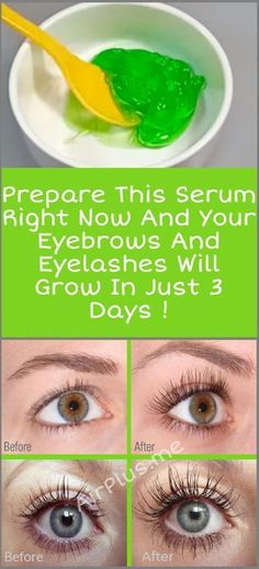 Prepare This Serum Right Now And Your Eyebrows And Eyelashes Will Grow In 3 Days Aloe vera gel, castor oil, vitamin E oil How To Grow Eyelashes, Longer Eyelashes, False Eyelashes, Thicker Eyelashes, Eyebrows Grow, Fake Lashes, Castor Oil Eyelashes, Fake Eyebrows, Skin Care