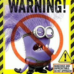 In Despicable Me 2 we were introduced to new minions, the evil purple minions. Based on the popularity of the yellow minions, these new crazy screaming purple minions are going to be very popular Halloween costumes this year. Minions Clips, Evil Minions, Minion Jokes, Minions Despicable Me, Minions Quotes, Funny Minion, Evil Minion Costume, Despicable Me Costume, Minion Costumes