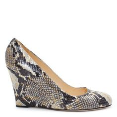 KATE SPADE Kiki wedge in NATURAL GOLD WASH PYTHON PRINT
